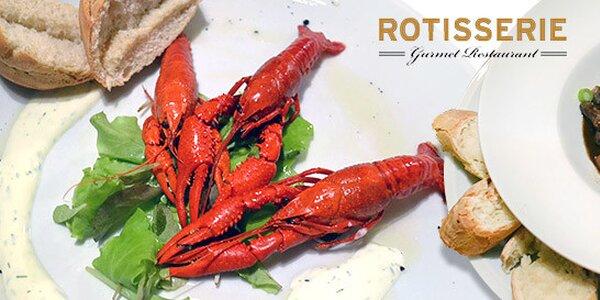 Exkluzivní menu pro dva v restaurantu Rotisserie
