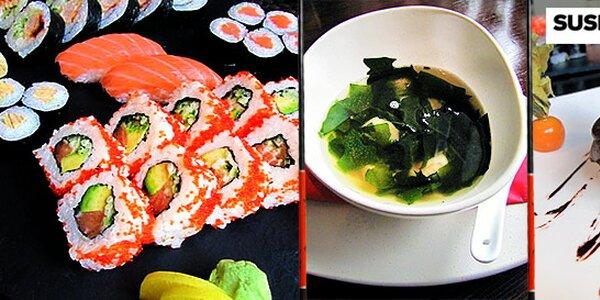 Polévky, předkrmy a 38 ks sushi v Sushi Point Black Label