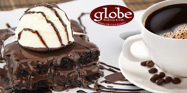 2 nápoje + 2 dezerty v Globe Bookstore & Cafe