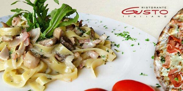 Italské menu pro dva v oblíbené restauraci Gusto
