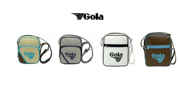 Designové barevné retro tašky Gola