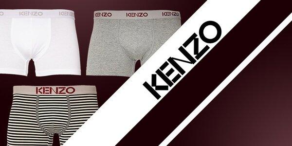 Pohodlné bavlněné boxerky, slipy a trička Kenzo