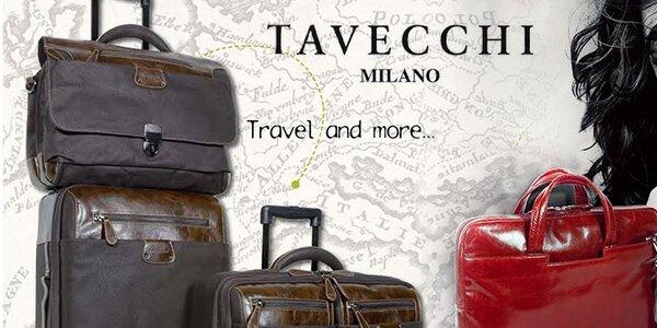 Elegantní kožené aktovky a brašny Tavecchi