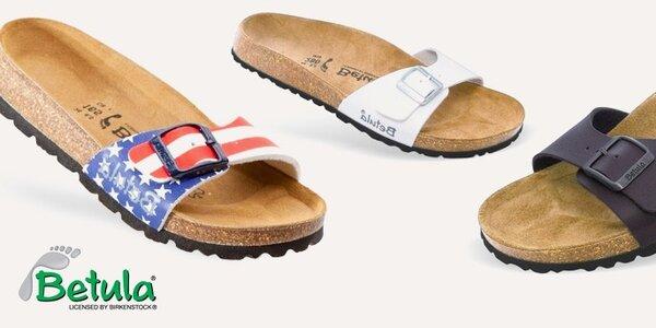 Betula - stylové pantofle s koženou stélkou