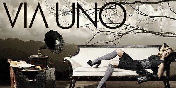 Dámské kožené boty Via Uno