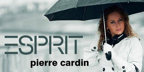 Barevné deštníky Esprit a Pierre Cardin - krásná za každého počasí