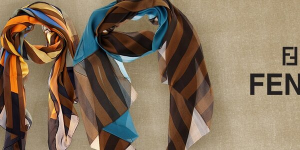 Fendi - luxusní dámské hedvábné šátky