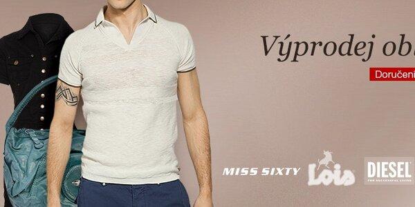 Výprodej denimových značek - Miss Sixty, Gas, Lois, Diesel a Pepe Jeans