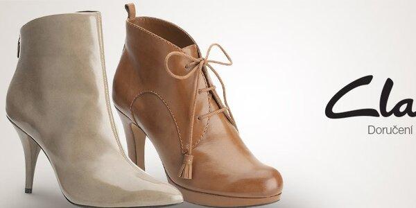 Dámské boty Clarks - kvalitní kůže a precizní zpracování