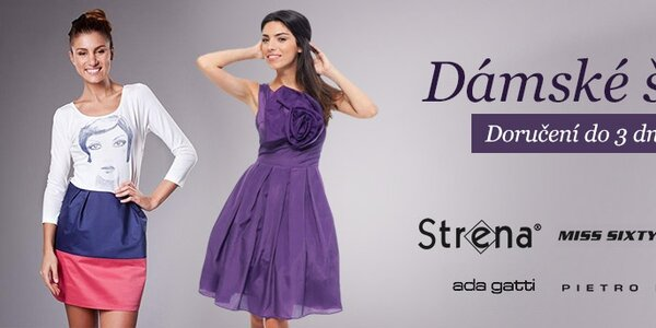 Dámské šaty Miss Sixty, Ada Gatti, ByLu a Strena