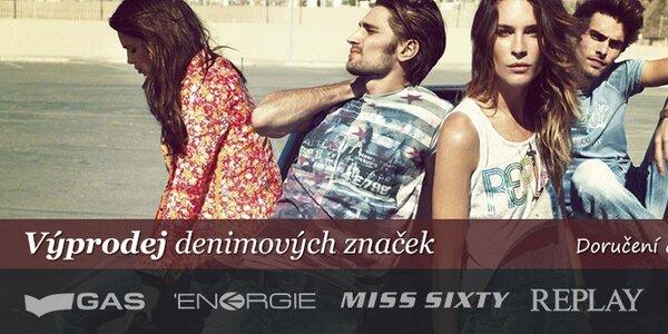 Pepe Jeans, Gas, Energie, Replay - značková denimová móda pro muže i ženy