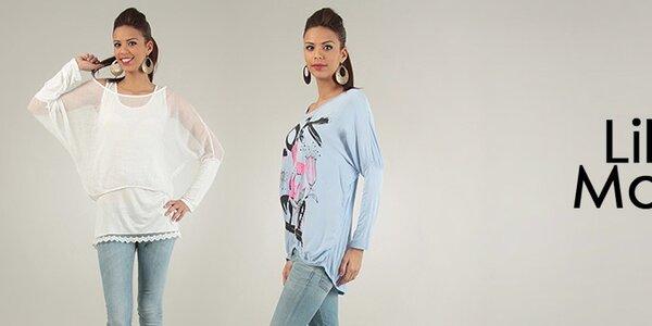 Dámské oblečení Lilly's Mood - jemné pastelové barvy a něžné motivy