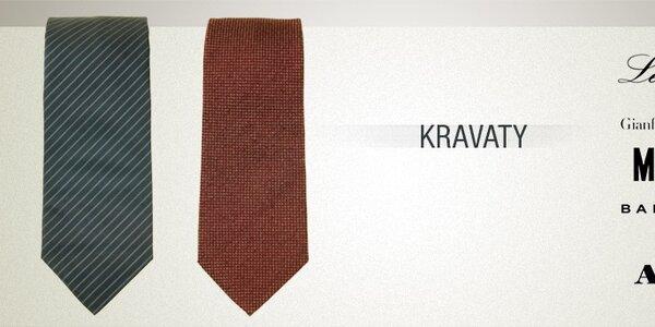 Pánské značkové kravaty - luxus oděný do hedvábného saténu