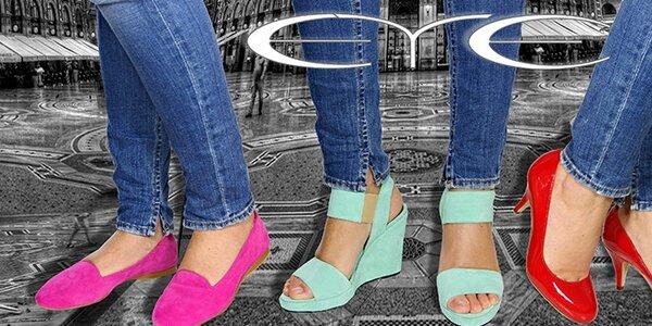 Dámská obuv Eye - trendy sultánky či barevné sandály na platformě