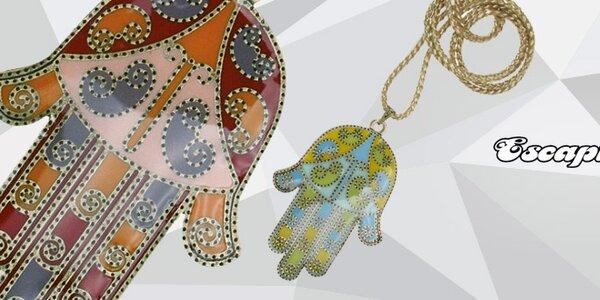 Přírodní brazilské šperky Escapulario