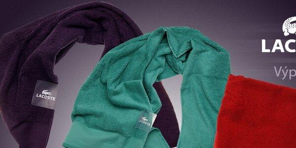Výprodej luxusních ručníků a ložního prádla Lacoste