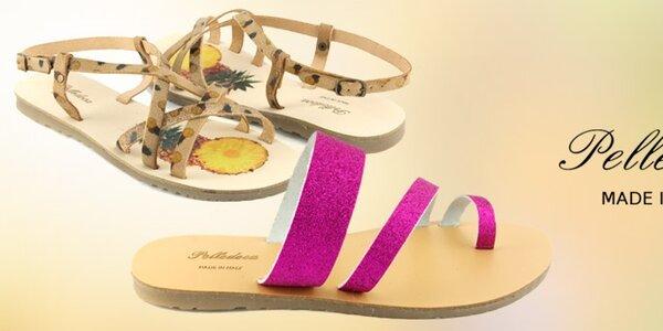 Dámské kožené sandály Pelledoca