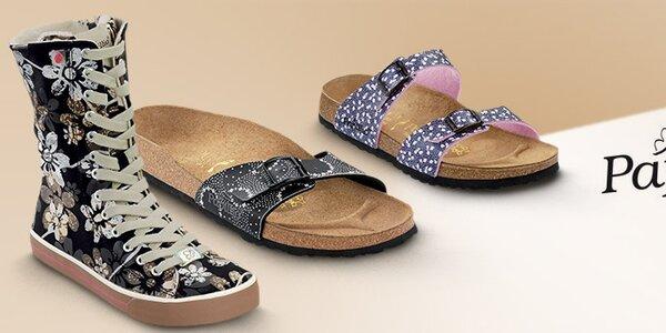 Dámské barevné pantofle Papillio