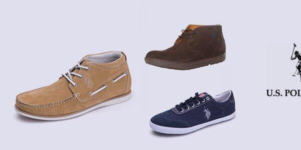 Sportovně-elegantní pánské boty U.S. Polo