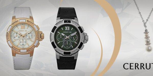 Dámské luxusní šperky a hodinky Cerruti 1881