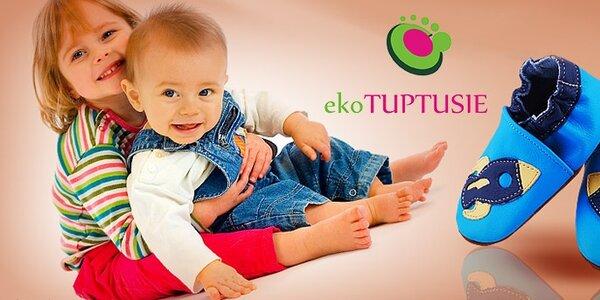 Tuptusie - dětské kožené botičky
