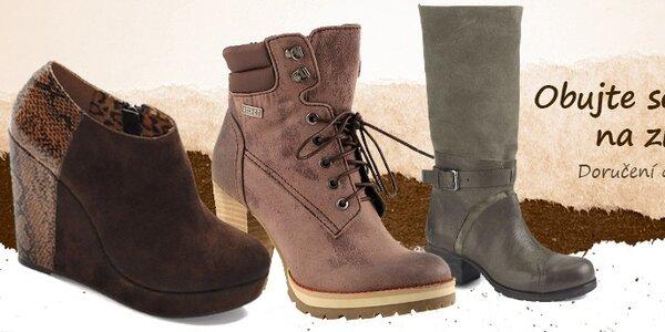 Dámské podzimní a zimní boty již od 599,-
