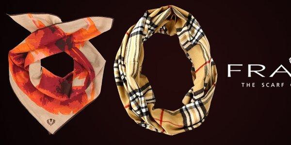 Podzim v teple s barevnými šátky a šálami Fraas