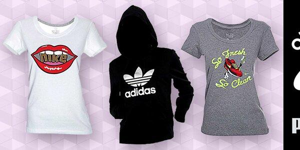 Dámské sportovní oblečení Nike, Adidas, Puma