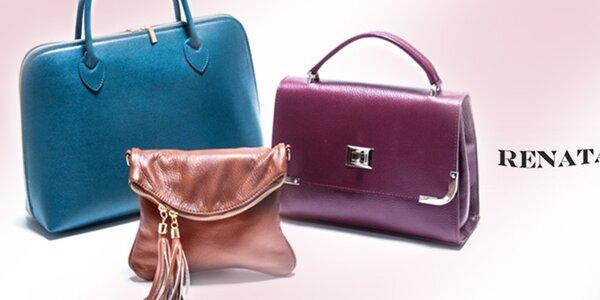 Kožené kabelky do práce i na večírek Renata Corsi