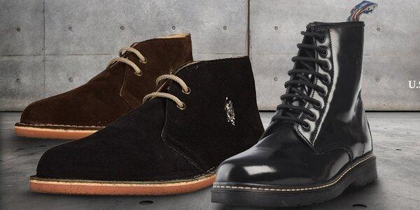 Stylové kožené boty U.S. Polo