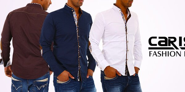 Módní italské pánské designové košile Carisma