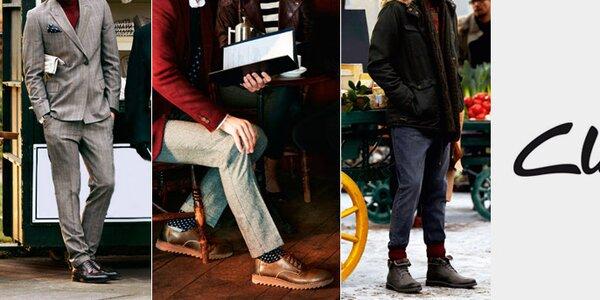 Elegantní a pohodlné pánské boty Clarks