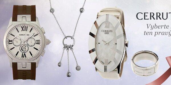 Luxusní hodinky a šperky Cerutti 1881