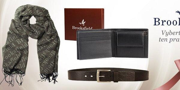 Pánské šály a peněženky v britském stylu Brooksfield