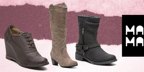 Stylové dámské podzimní a zimní boty Maria Mare