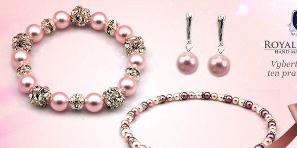 Ručně vyráběné šperky s perlami od Swarovski Royal Adamas