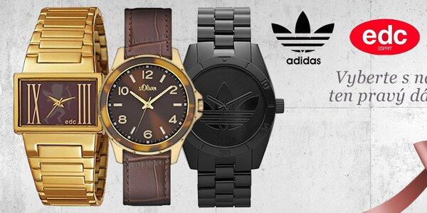 Originální hodinky Esprit kolekce EDC, Adidas, Puma a další