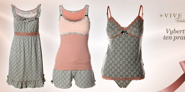 Provokativní i pohodlné noční košilky a pyžama Vive Maria