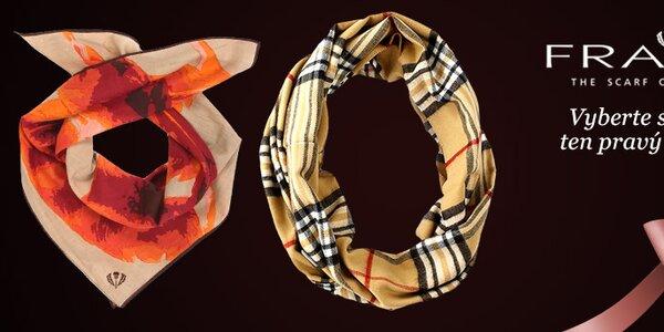 Zahřejte se s barevnými šátky, šálami a čepicemi Fraas
