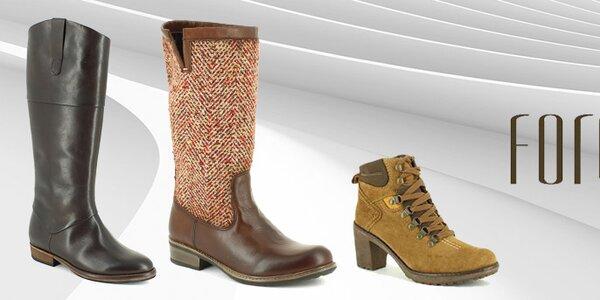 Elegantní kozačky a zimní boty Foreva