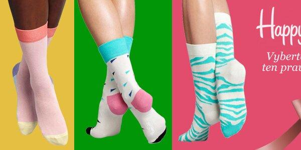 Veselé barevné ponožky Happy Socks