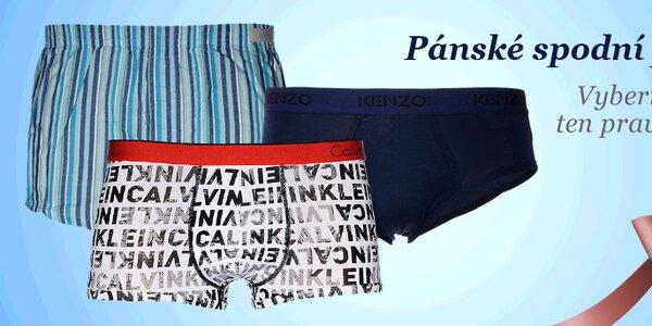 Elegantní i vesele barevné pánské spodní prádlo. Skladem již od 199,-