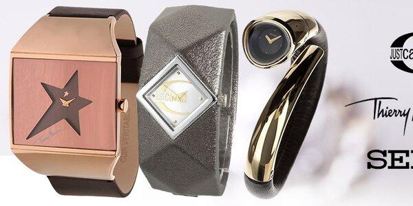 Stylové hodinky Seiko, Just Cavalli, Thiery Mugler, Kookai a další
