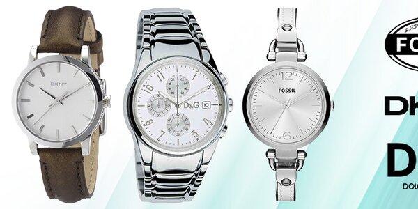 Dokonale stylové hodinky Dolce & Gabbana, DKNY a Fossil