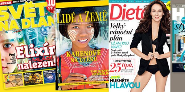 Darujte předplatné oblíbených časopisů