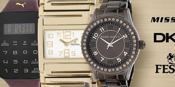 Stylové hodinky oblíbených značek DKNY, Puma, Esprit, Miss Sixty a dalších