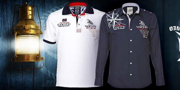 Pánské sportovně elegantní košile a trička M. Conte
