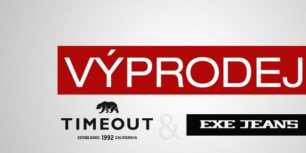 Výprodej pánského oblečení Timeout a Exe Jeans již od 199,-