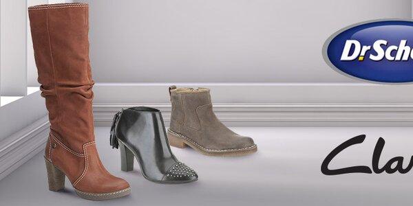 Výprodej dámských bot Clarks a Dr. Scholl za skvělé ceny