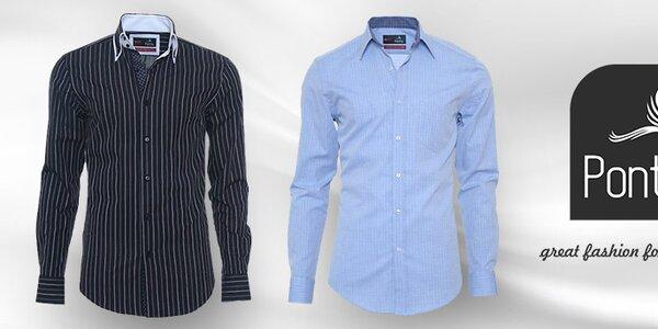 Dokonalé pánské košile Pontto - vše skladem
